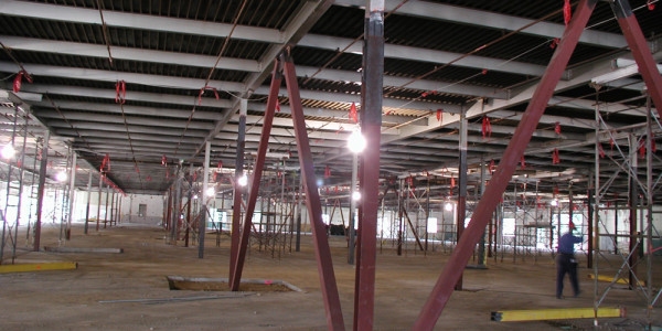 New Structural Steel Shoring and Columns