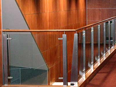 Ornamental Railings with Glass Pane