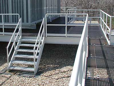 Outdoor Platform for Cooling Unit