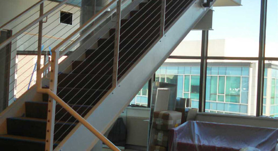 Stairs in Office Lobby