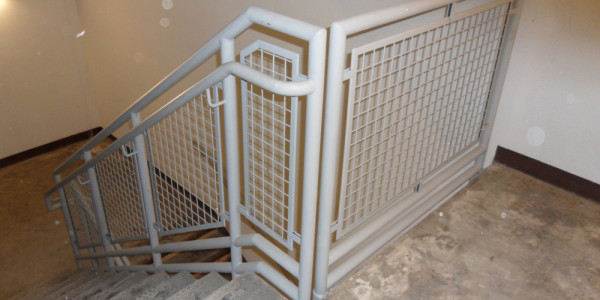 Stairway Handrails Finish Painted White