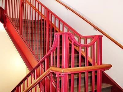 Steel Railings Finish Painted Red