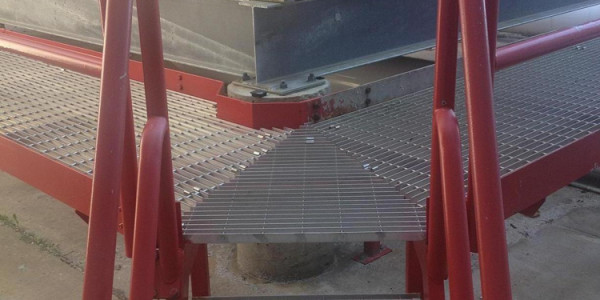 Steps, Surrounding Access Platform and Railings Finish Painted Red