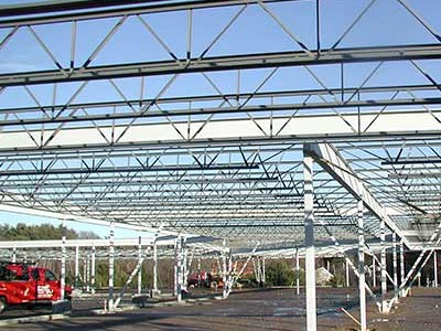Structural Steel for New Shopping Plaza