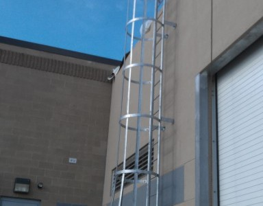 Access Ladder with Safety Cage