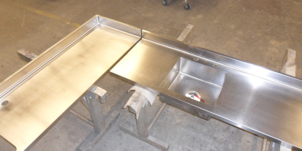 Custom Stainless Steel Countertop and Sink
