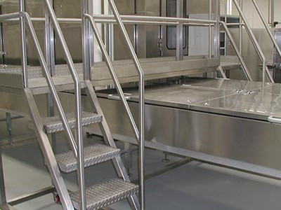Stainless Steel Platform for Food Service Facility