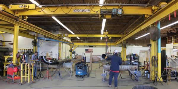 Overhead-Crane-in-Main-Fabrication-Bay