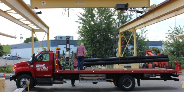 Overhead Crane to Outdoor Loading Area