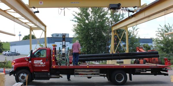 Overhead Crane to Outdoor Loading Area